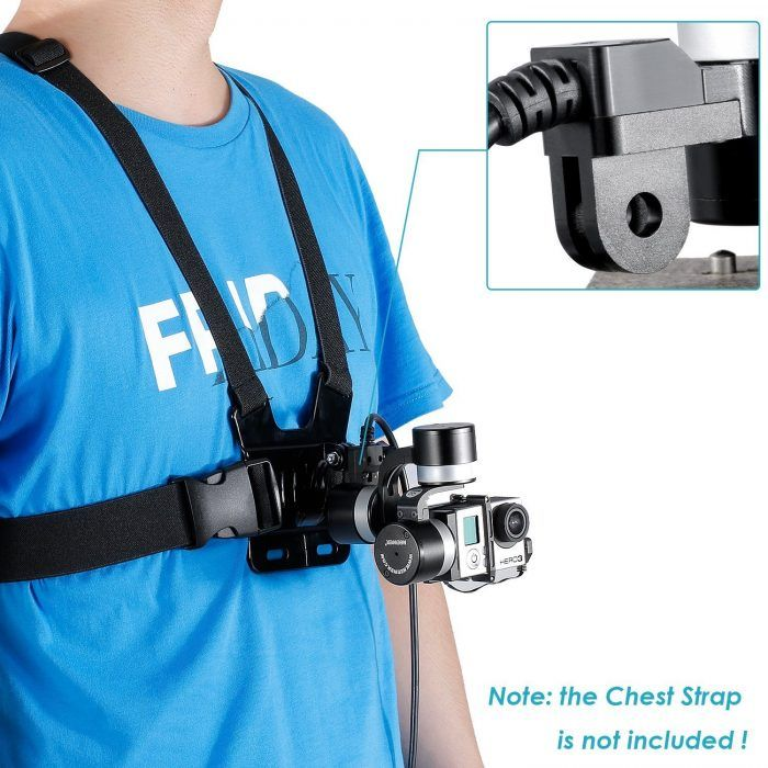 Neewer NW-Z1 Rider2 gopro gimbal with chest strap