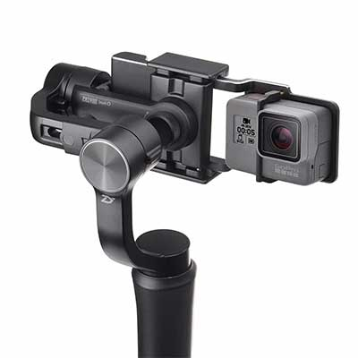Zhiyun smooth-Q with a gopro plate