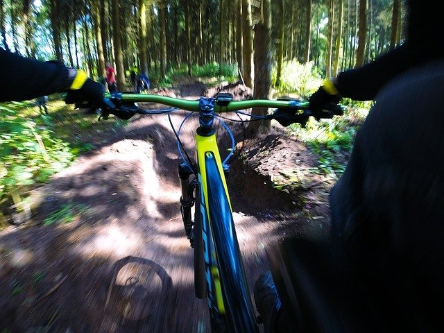 First person vision taken with a gopro camera on a bicycle