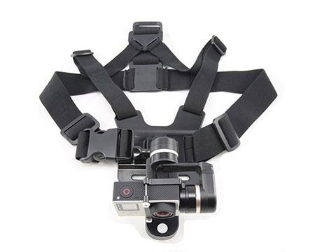 Chest rig with a gopro camera