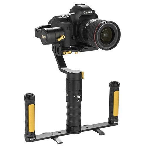 Ikan Beholder EC1 stabilizer with the dual grip handle