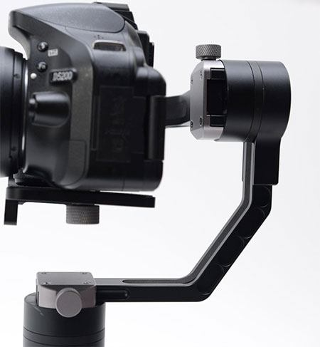 Nikon 5200 mounted on a glide gear geranos stabilizer