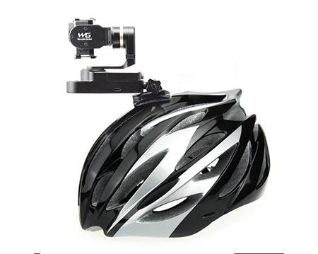 Gopro mounted on a bicycle helmet