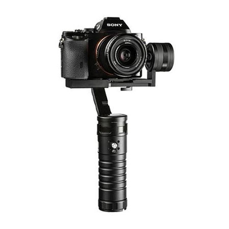 Ikan MS1 Handheld gimbal with a mirrorless camera mounted