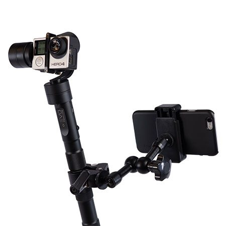 Smartphone mounted on the evo pro mount
