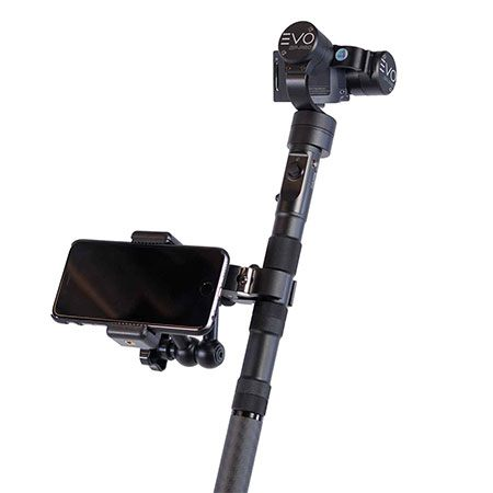 Smartphone mounted on a evo gp pro gimbal