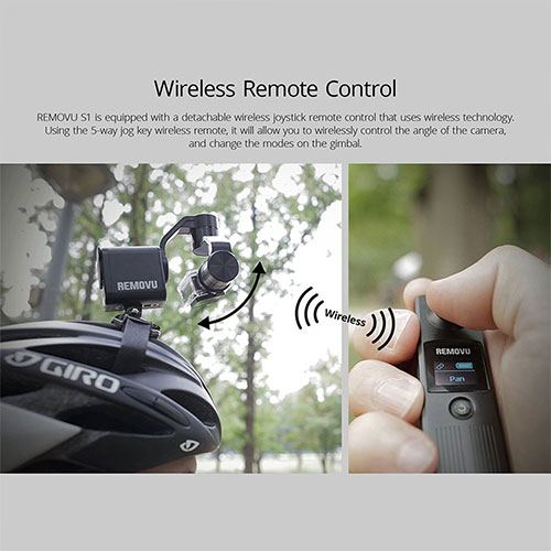 Wireless control for the removu s1 stabilizer
