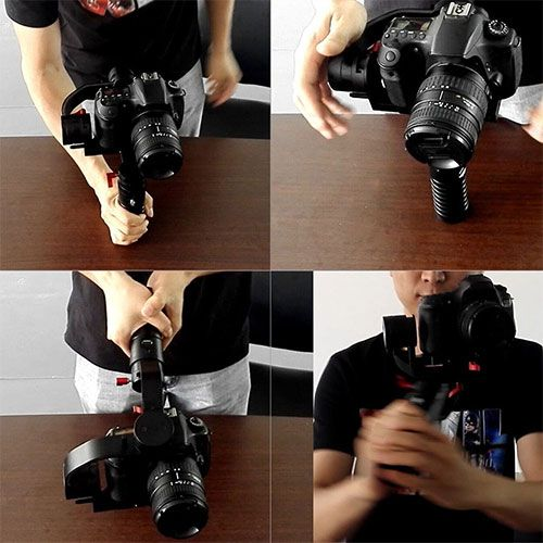 Setting up a gimbal with a dslr camera