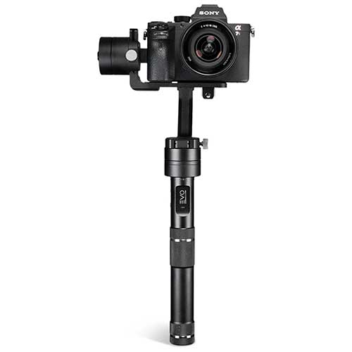 evo rage gimbal with sony A7 mounted
