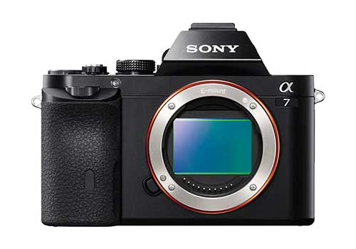Sony A7 displaying its sensor