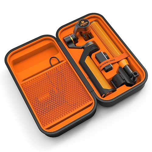 Orange Carrying case for the vipro gopro stabilizer
