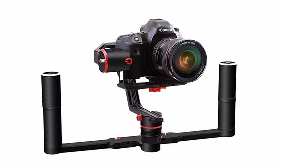 Canon 5D mounted on a stabilizer